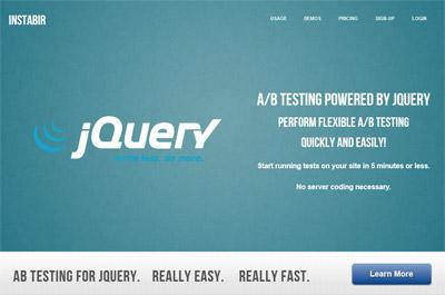 Ab testing jquery instabir