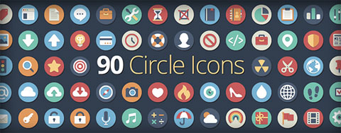 90 Flat Icons