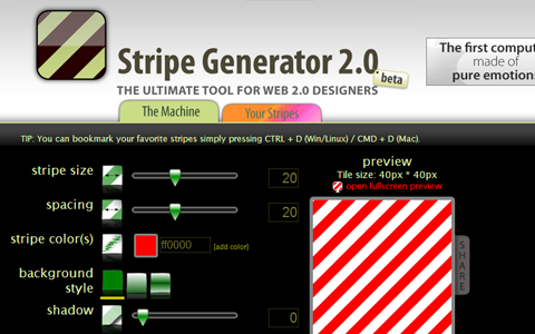 stripe generator website design webapp tools