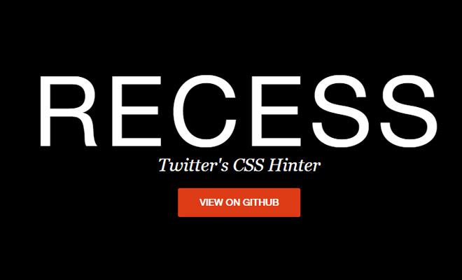 recess open source editor scss