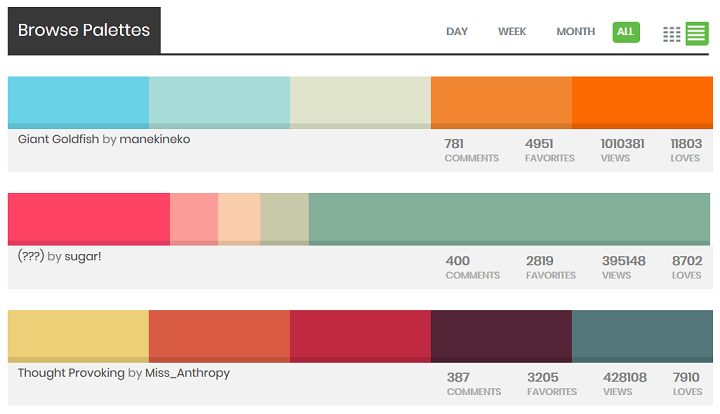 coulourlovers palettes