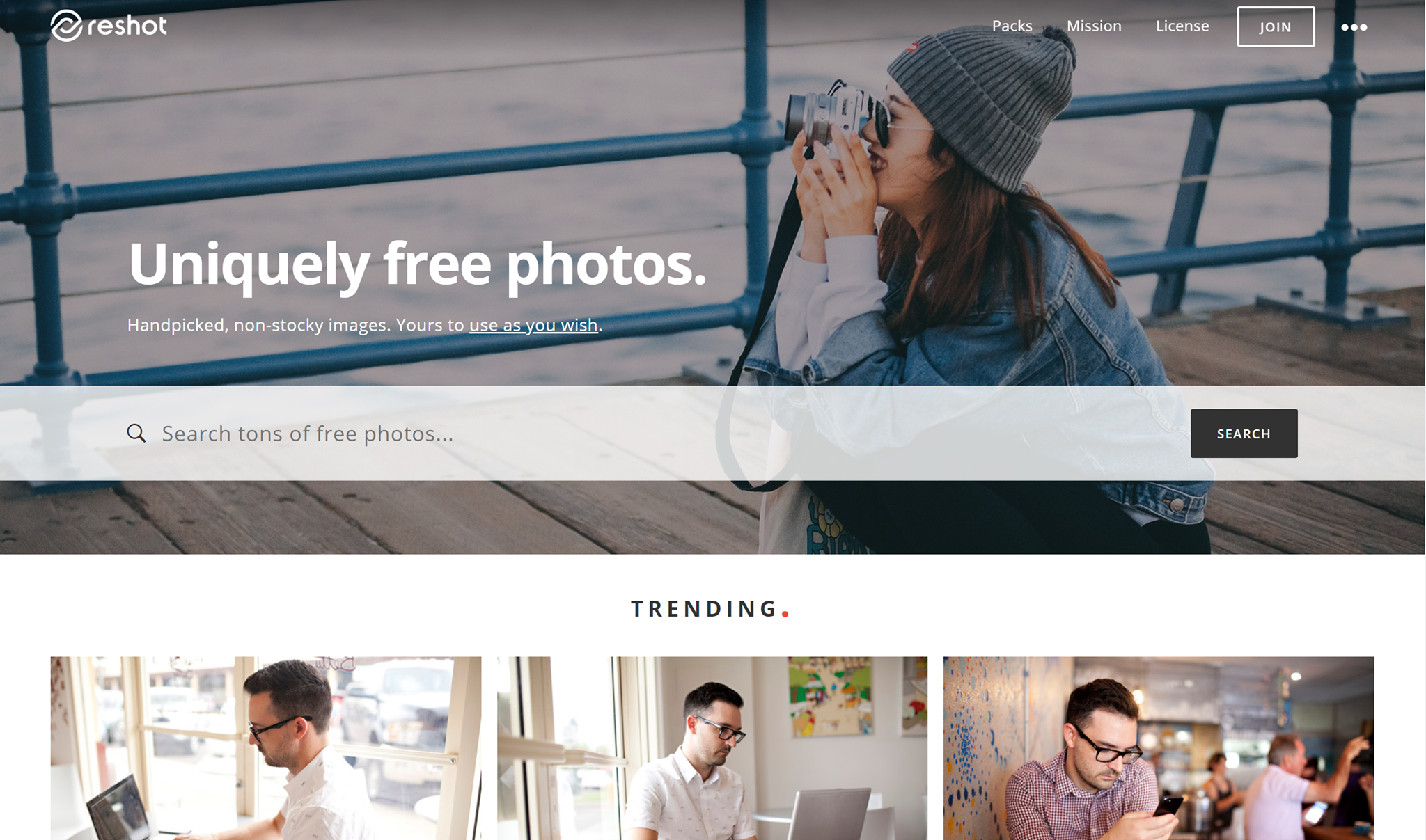 reshot free stock images website