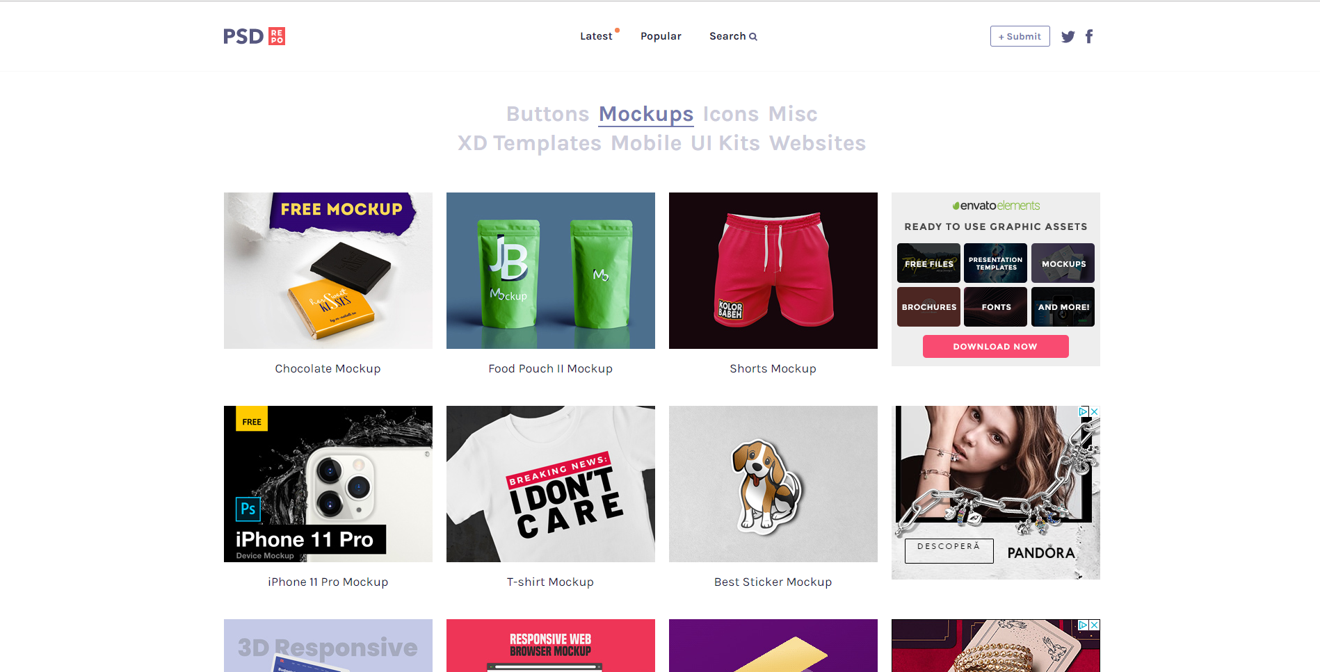 free psd mock up website