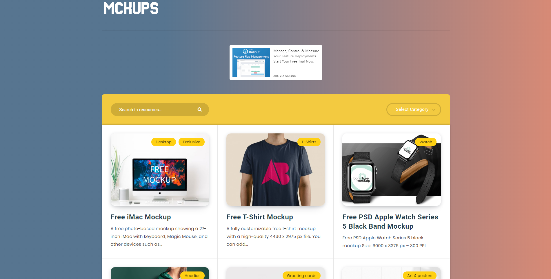 mckups mockups website free app