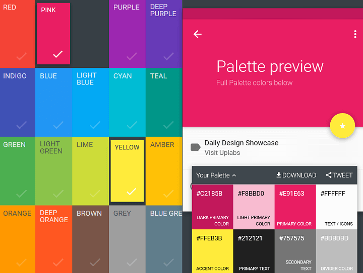 material design color palette generators